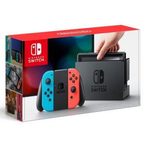 Switch NintendoSwitch Joy-Con(L)ネオンブルー/(R)ネオンレッド 中古 Switch 本体|birds-eye