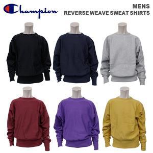 チャンピオン メンズ カジュアル スウェットシャツ CHAMPION C3-Q035  リバース ウェーブ スウェット シャツ|birigo