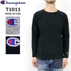 チャンピオン メンズ T1011 アメリカ製 CHAMPION C5-Y401 ヘビーウエイト ロングスリーブ Tシャツ MADE IN USA|birigo