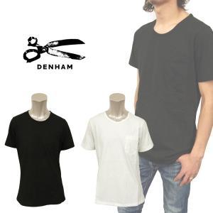 デンハム デニム ヨーロッパ 人気急上昇 カジュアル メンズ 半袖 クルーネック Tシャツ DENHAM 01-13-01-51-030 BURNUM C VR|birigo