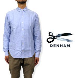 デンハム メンズ トップス DENHAM 01-0640003 PIN PO ボタンダウンロールアップ オックスフォード シャツ|birigo