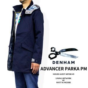 デンハム アウター DENHAM 15-0120001 ADVANCER PARKA PM HOUSE GUEST ARTIST #9 LINING ART WORK BY MATT W. MOORE|birigo