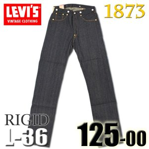 リーバイス ヴィンテージ LEVI'S 125 0024 リジッド L36インチ 1873年 MAY 501 復刻版 サスペンダーボタン ファースト501 バックストラップ 白耳|birigo