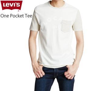 リーバイス Tシャツ プリント 胸ポケット 丸首 メンズ クルーネック カットソー ホワイトタブ LEVS 15798-0012 ワン ポケット Tシャツ|birigo