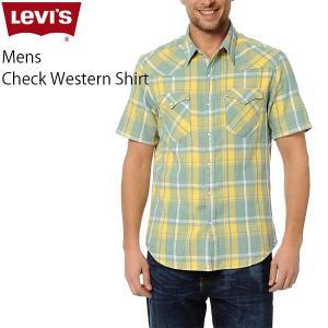 リーバイス カジュアル メンズ 半袖 トップス LEVIS 65817-00L06 チェック ウエスタン シャツ|birigo