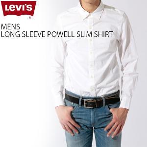 リーバイス Levi's 長袖シャツ ベーシック モノトーン 定番 人気 メンズ レッドタブ LEVIS 65832 ノーポケット シャツ ストレッチ ポプリン スリムフィット|birigo