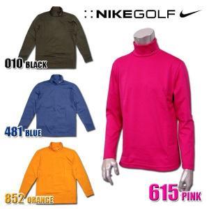 ナイキ ゴルフ メンズ タートルネック インナー ロングスリーブ 長袖 NIKE GOLF MENS 383614 DRI-FIT UVプロテクション ドライフィット 吸汗機能 快適|birigo