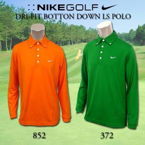 ナイキ NIKE GOLF MENS 383619 LSトップス  ゴルフ メンズ ロングスリーブ DRI-FIT BOTTON DOWN LS POLO ゴルフウェア ランニング スポーツウェア 着心地良好