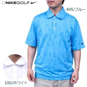 ナイキ ゴルフ メンズ トップス NIKE GOLF 402328 パターン ドライフィット 半袖 ポロシャツ|birigo