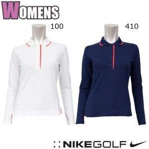 ナイキ ゴルフ ウェア レディース LS トップス NIKE 402708 長袖 ポロシャツ|birigo