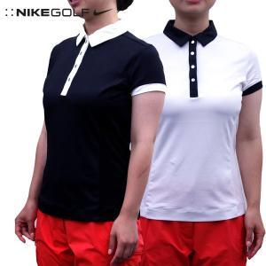 ナイキ ゴルフ レディース トップス NIKE GOLF 412043 DRI-FIT ノベルティ 半袖 ポロシャツ|birigo