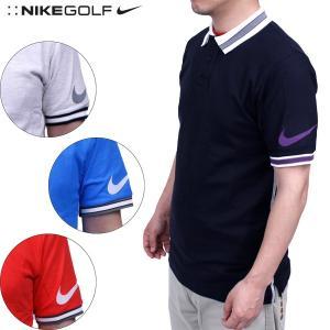ナイキ ゴルフ ポロシャツ メンズNIKE GOLF 436148 ボーダー ドライフィット インペリアル 半袖 ポロシャツ|birigo