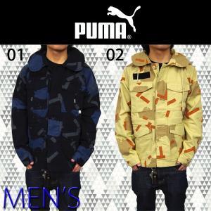 プーマ PUMA MENS アウター 562728  メンズ ミリタリージャケット 男物 上着 かっこいい おしゃれ 迷彩 幾何学 模様 クール ※日本製品よりも全体的に1〜2サイズ|birigo