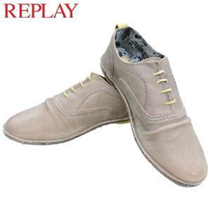 リプレイ メンズ カジュアル 革靴 REPLAY GMC26 028 シューズ|birigo