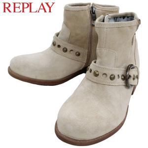 リプレイ レディース カジュアル シューズ REPLAY GWL21 002 ショート ブーツ|birigo