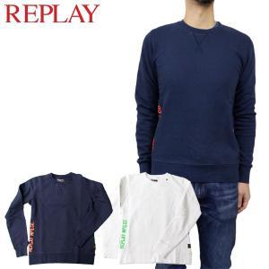 リプレイ カジュアル トップス REPLAY M6682 クルーネック スウェット シャツ birigo