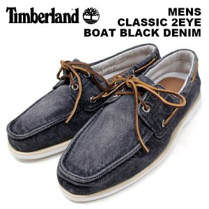 ティンバーランド メンズ カジュアル シューズ Timberland 6751B CLASSIC 2EYE BOAT BLACK DENIM クラシック 2アイ ボート ブラックデニム|birigo