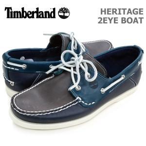ティンバーランド メンズ カジュアル シューズ Timberland A14NK HERITAGE 2EYE BOAT ヘリテージ 2アイ ボート|birigo