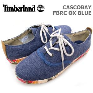 ティンバーランド レディース カジュアル シューズ Timberland A175P CASCOBAY FBRC OX BLUE キャスコベイ ファブリック オックスフォード ブルー|birigo