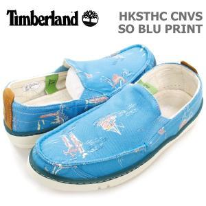 ティンバーランド レディース カジュアル シューズ Timberland A17YM HKSTHC CNVS SO BLU PRINT フックセット キャンバス スリッポン ブループリント|birigo
