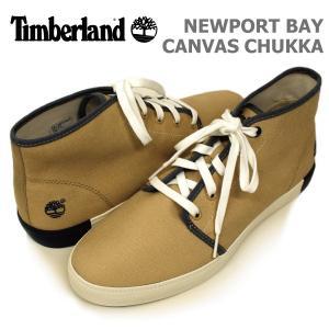 ティンバーランド メンズ カジュアル シューズ Timberland A18H8 NEW PORT BAY CANVAS CHUKKA  ニューポートベイ キャンバス チャッカ|birigo