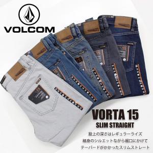 ボルコム カジュアル メンズ デニム ボトムス VOLCOM A1931501 VORTA 15 SLIM STRAIGHT スリム ストレート|birigo