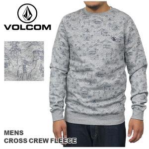 ボルコム カジュアル メンズ トレーナー VOLCOM A4631456 CROSS CREW FLEECE 長袖 スウェット フリース 起毛|birigo
