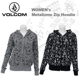 ボルコム カジュアル レディース ジップ パーカー フーディー VOLCOM B48314JA Metalizmo Zip Hoodie|birigo