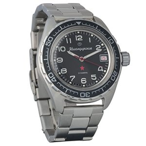 Vostok Komandirskie Mens Automatic Russian Military Wristwatch WR 200m (020706) 並行輸入品 birmingham-ex