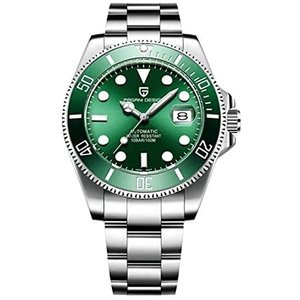 Pagani Design 43mm Submariner Automatic Men's Homage Watch Designer Mechanical NH35A Movement (Hulk Green) 並行輸入品 birmingham-ex