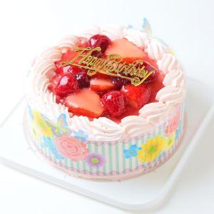 ケーキ スイーツ バースデーケーキ お誕生日ケーキ ピンク色...