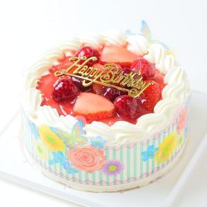 苺2段サンド 生クリーム苺ケーキ6号 ポストカード無料 バー...