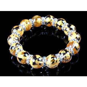 ポイント10倍 ブレスレット ブレス 数珠ブレス オラオラ系 太め14mm ロンデル×金龍水晶|birthjapan