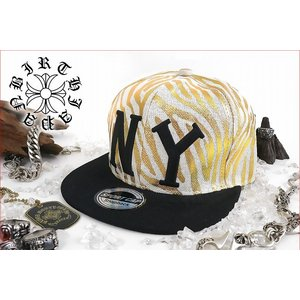 ポイント10倍 帽子96白×金 ロゴ刺繍キャップ ゼブラ柄 悪羅悪羅系 オラオラ系 ヤンキー 派手 チンピラ ヤクザ 派手B系HIPHOPNY|birthjapan