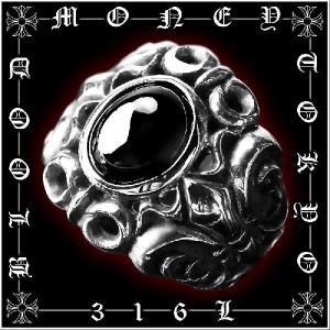 ポイント10倍 12055黒 サージカルステンレスリング メンズリング 指輪 SUS316L プレゼント ギャルオ 悪羅悪羅系 オラオラ系 お兄系|birthjapan