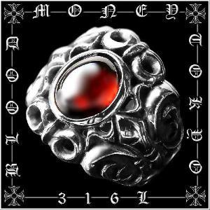 ポイント10倍 12055赤 サージカルステンレスリング メンズリング指輪SUS316L プレゼント ギャルオ 悪羅悪羅系 オラオラ系 お兄系|birthjapan