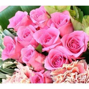 ◆無料のメッセージカード付き◆  たっぷりバラを10本と、新鮮な季節のお花・グリーンを使用した お洒...