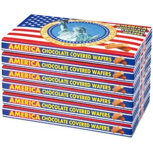 アメリカ チョコウエハース 6箱セット (袋付) アメリカみやげ アメリカ定番 bisho