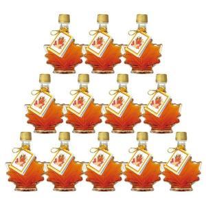 カナダ カエデ形 ミニ メープルシロップ 12瓶セット  メープル カナダお土産|bisho