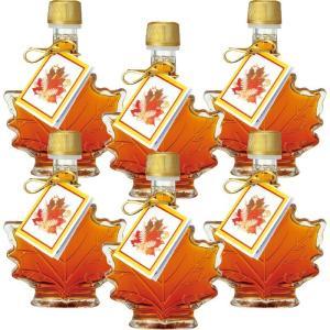 カナダ カエデ形 ミニ メープルシロップ 6瓶セット  メープルリーフ カナダ土産|bisho