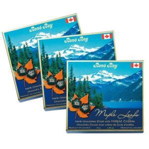 カナダ カナディアンロッキー ダークメープルチョコレート 3箱セット ロッキー山脈土産|bisho
