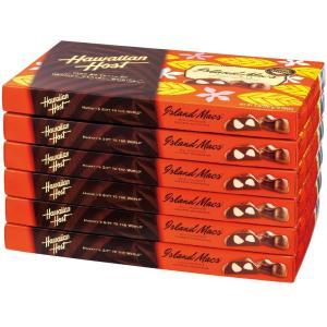 ハワイ  ハワイアンホースト マカデミアナッツチョコレート 6箱セット (袋付) ハワイチョコ ハワイ人気 bisho
