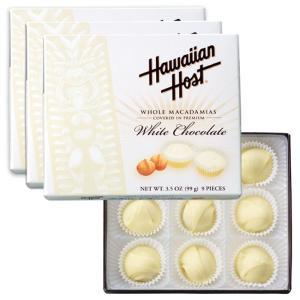ハワイ ハワイアンホースト マカデミアナッツ ホワイトチョコレート 3箱セット ハワイ土産|bisho