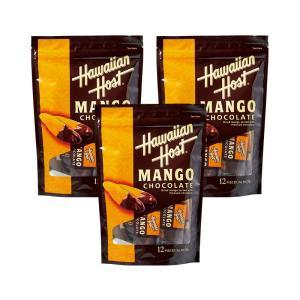 ハワイ ハワイアンホースト ドライマンゴーチョコ 3パックセット  ハワイおすすめ ドライフルーツ bisho