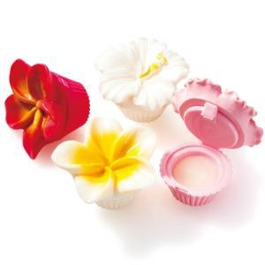 ハワイ フラワー リップ 4コセット ハワイ雑貨 南国みやげ雑貨|bisho