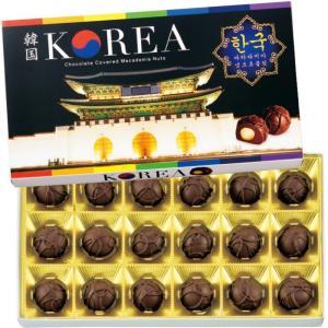 韓国 マカデミアナッツチョコレート (袋付き) 韓国みやげ 韓国チョコ 宮殿 夜景|bisho