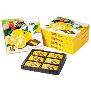 韓国 ゆず風味チョコレート 5箱セット 韓国土産 人気 ゆず |bisho