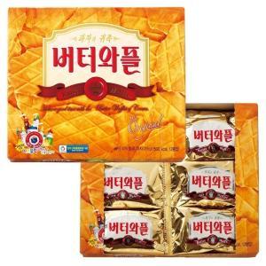韓国 バターワッフルクッキー 韓国土産 クッキー サクサク 甘さ控えめ 人気 個別包装|bisho