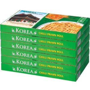 韓国 チリプラウンロール 6箱セット 韓国土産 韓国菓子 ピリ辛 エビスナック おつまみ|bisho