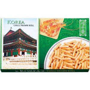韓国 チリプラウンロール 韓国土産 韓国菓子 ピリ辛 エビスナック おつまみ|bisho